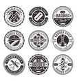 barber shop set of nine vintage badges vector image vector image