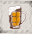 beer mug vintage vector image vector image