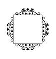 black contour vintage classic square monogram vector image vector image
