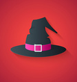 Black Hat of Witch Funny Halloween Carton with Lo vector image vector image