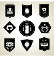 Boxing emblems set black vector image