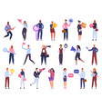 business workers office people characters team vector image vector image