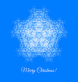 Christmas card with snowflake vector image