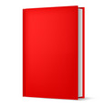 classic red book in front vertical view isolated vector image vector image