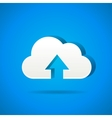 cloud app icon - upload files vector image vector image