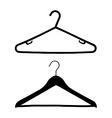coat hangers vector image vector image