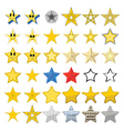 Collection of different stars vector image vector image