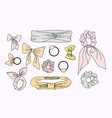 collection of hair accessories vector image