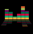 Colorful equalizer - music background vector image