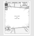 Comic book style template vector image vector image