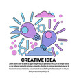 creative idea new project plan concept banner with vector image vector image