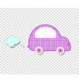 cute baby girl clip art car for scrapbook kids vector image