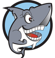Danger shark logo vector image