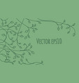 decorative outline green ivy leaves and sprout vector image vector image