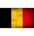 Flags Belgium with dirty paper texture vector image vector image