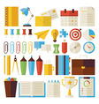Flat Business and Office Life Objects Set isolated vector image vector image