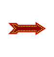 flat icon of bright red arrow direction vector image vector image