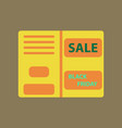 flat icon of sale booklet vector image vector image
