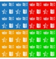 Flat icons for online store vector image vector image