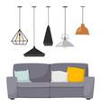 furniture room interior design apartment vector image vector image