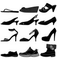 girl female woman shoes footwear a set female vector image