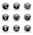 Glossy icon set 24 vector image vector image