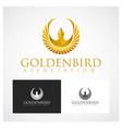 golden bird symbol vector image vector image