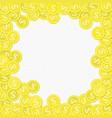 golden coins frame vector image