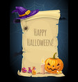 Halloween holiday paper scroll greeting card
