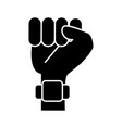 hand clenched symbol isolated vector image vector image