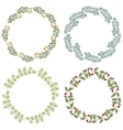 Hand drawn set of retro wreath vector image vector image