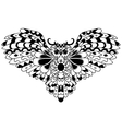 High quality owl for coloring or tattoo isolated vector image vector image