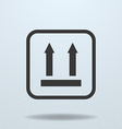 Icon of Side Up sign symbol vector image