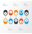 job icons flat style set with agreement vector image vector image