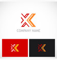 letter x line abstract logo vector image