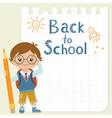 Little schoolboy vector image vector image