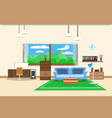 living room or office design interior relax with vector image vector image