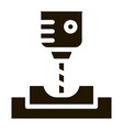 manufacturing process metallurgical icon vector image vector image