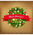 Merry Christmas Vintage Composition vector image vector image
