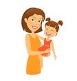 Mother with daughter Happy family vector image