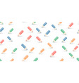 multicolored pencils on white vector image vector image