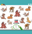 one a kind game for children with funny dogs vector image vector image