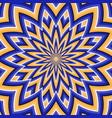 optical background blue orange moving flower vector image vector image