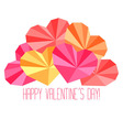 Origami paper hearts composition vector image vector image