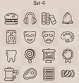 Outline Icons Set 4 vector image vector image