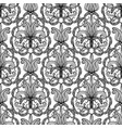 paisley ornamental floral black and white greek vector image vector image