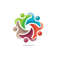 people community logo vector image vector image