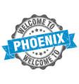 phoenix round ribbon seal vector image vector image