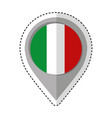 pin location italy flag icon vector image vector image