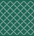 quatrefoil green seamless pattern vector image